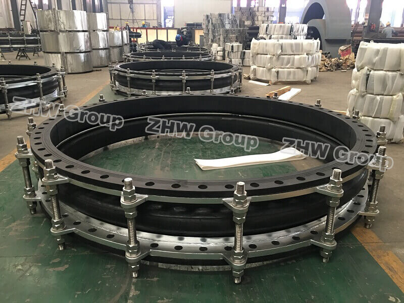 Rubber expansion joint duplex stainless steel flange